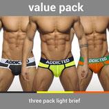 ADDICTED Three Pack Light Brief