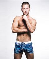 Andrew Christian Tropical Palm Swim Shorts