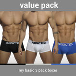 ADDICTED My Basic Three Pack Boxer