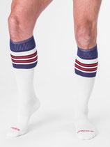Barcode Berlin Football Socks weiss-blau