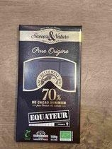 Saveurs&Nature Chocolat 70% pure origine 100g