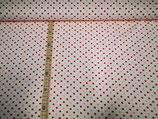 Punkte rot/rosa auf weiß