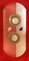 Art:Nr:3901713 Teelichthalter mit zwei Einsätzen