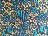 Viskose Wiesenblumen blau