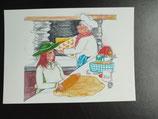 """Postkarte aus der Serie """"Die kleine Madame reist"""" Motiv 105"""