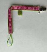 Nuggibändel Eule Eulalia (pink-grün)