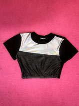 Black croptop with metallic