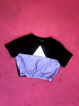Lavender and black croptop
