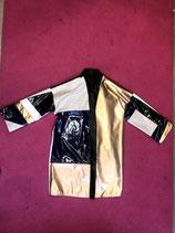 PU Patchwork kimono