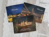 Set Lübeck - Weihnachten  ,  3 Motive Größe A6 mit Umschlag