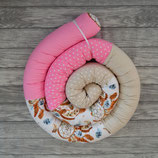 Bettschlange Traumfänger (rosa/beige)