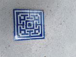Lot de 4 anciens carreaux réf AB32 Faience de Desvres 8,5 cm ×8 5 cm