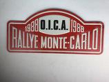PLAQUE RALLYE MONTE CARLO 1988 O.I.C.A.