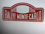 PLAQUE RALLYE MONTE CARLO 1988