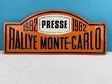 PLAQUE RALLYE MONTE CARLO 1982 PRESSE