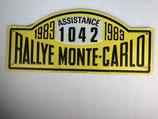 PLAQUE RALLYE MONTE CARLO 1983 ASSISTANCE