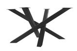 Kreuzgestell Stahl schwarz matt Struktur MI-KADO 80x80