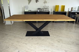 Kreuzgestell Stahl V Form schwarz matt