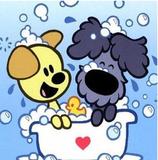 Woezel en Pip in bad