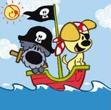 Woezel en Pip zijn piraten
