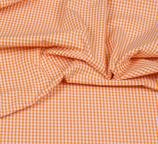 Baumwollstoff Vichy Karo 3mm Orange