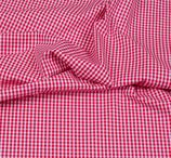 Baumwollstoff Vichy Karo 3mm Rot