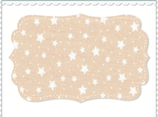 Interlock Stoff Sterne Bio Qualität