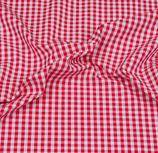 Baumwollstoff Vichy Karo 5mm Rot