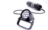 SeaYa 70W LED NARROW, Unterwasserlampe Piezoschalter im Lampenkopf mit 3 Modi, LiIonAkkuwahlweise mit 13,8 ah, 24,15 Ah oder 41,4 Ah, mit Klassik oder Piezoschalter, Ladegerät