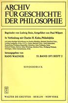 Eisenstein, Israel: ›Brunners Philosophie‹ In: ›Archiv für Geschichte der Philosophie‹ Hrsg. Hans Wagner, 53. Bd. (1971), Heft 2, Sonderdruck.