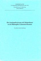 Stolte, Heinz: ›Die Auseinandersetzung mit Schopenhauer in der Philosophie Constantin Brunners. Sonderdruck aus dem 53. Schopenhauer-Jahrbuch für das Jahr 1972‹
