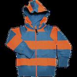 Sweat zippé à capuche bleu/orange - Geggamoja