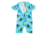 Short sleeve UV50 suit blue- Smafolk