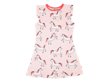 Pink dress printed unicorn - Smafolk