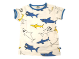 Sharks printed white tshirt - Smafolk