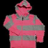 College hoodie grey/cerise - Geggamoja