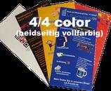 Flyer 2-Seitig 4/4-farbig Din-lang (10,5 x 21cm) 135g Superglanz, glzd. oder matt