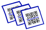 10 QR-Code Aufkleber 12x12cm oder 21x21cm wetterfest UV-lackiert