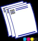 Briefbogen / Rechnungen 4-farbig A4 4-farbig 90g Qualitäts-Laserpapier
