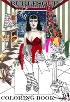 Burlesques Malbuch Winteredition / Burlesque coloring book Christmasediton