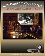 "Canvas Fine art print ""Cognac n Cigars"", signed"