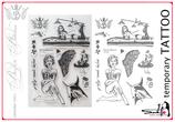 "12 temporary TATTOO stamps ""BERLIN BITCH"""