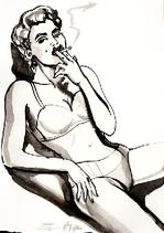 Q270_smokingmadonna