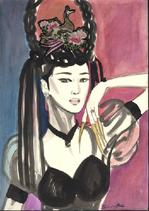 Q285_geishawithbird
