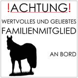 "Hängeraufkleber ""Familienmitglied an Bord"""