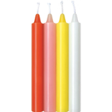 Mixed Color Taper Candles - Warm Mix
