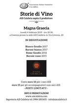 """Degustazione """"Storie di Vino - Magna Graecia"""""""