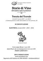 """Degustazione """"Storie di Vino - TENUTA DEL TRAVALE"""""""