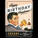 Happy BIRTHDAY  Blechpostkarte  10x14cm  /  10273