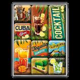 Cocktail, Cuba, Tecuilla, Caipirinha, Magnet-Set 9x2x7cm / 83073